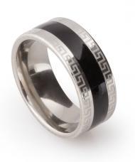 Greek Style prsteň z chirurgickej ocele striebornej farby 64236fa2272